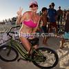 Suzana Manole wins the rafle for a beach cruiser