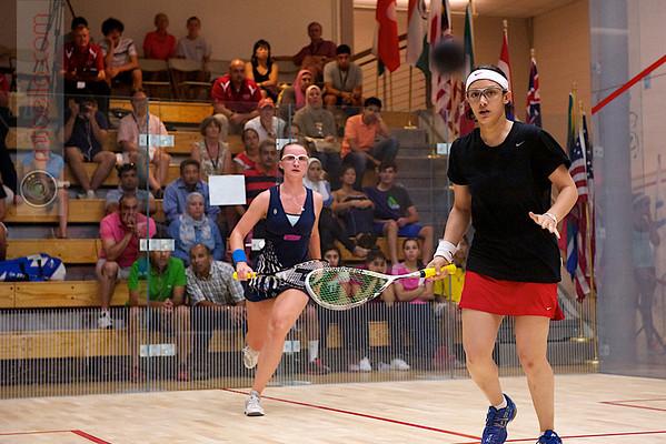 2011 Women's World Junior Squash Championships - 4th Round: Salma Han (Egypt) and Haley Mendez (USA)