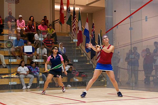 2011 Women's World Junior Squash Championships - 4th Round: Amanda Sobhy (USA) and Tan Yan Xin (Malaysia)