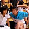 Ka-Po Ho (Hong Kong) and her coach