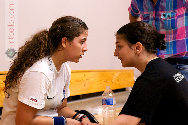 Kanzy Emad El-Defrawy (Egypt) and her coach