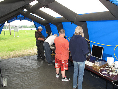 Lots of room to set up our radio equipment....