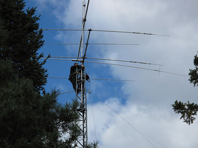 Antenna work at VE3RM's place