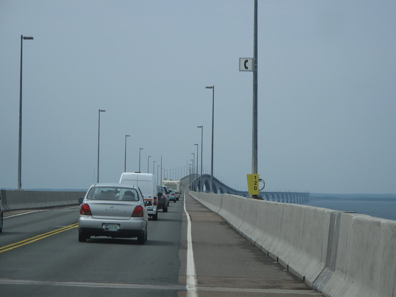 Heading from PEI to New Brunswick on the Confederation Bridge...