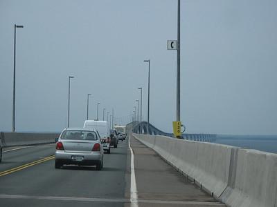 Heading from PEI to New Brunswick on the Confederation Bridge...