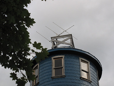 A 6, 2 and 70 cm antenna was temporarily mounted at the top of Higginson tower for field day.