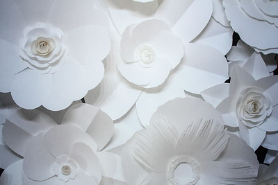 3D White flower backdrop (9 ft wide)