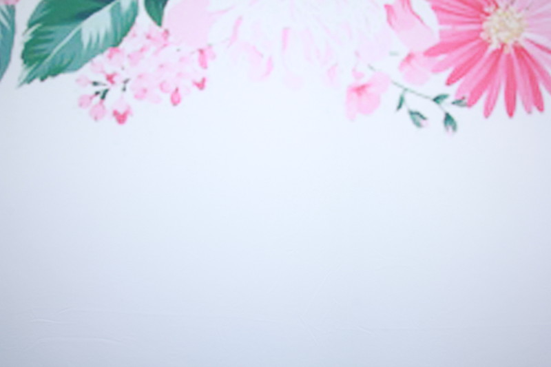 Spring floral watercolor backdrop (Backdrop is 10 ft wide)
