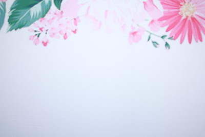 Spring floral watercolor backdrop (Backdrop is 9ft wide)