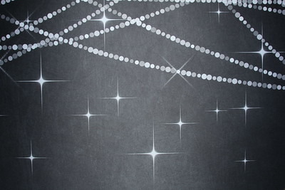 Chalkboard w/ string lights (9 ft wide)