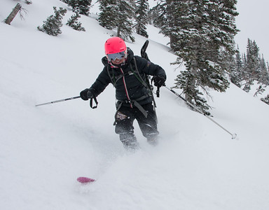 Chloe skiing her on 1st backcountry ski day ever.  She couldn't have had any better people to go with.