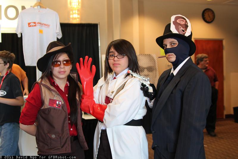 Sniper, Medic, and Spy