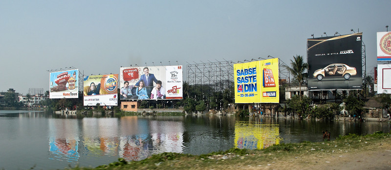 Kolkata's colourful billboards...and there of tons of them.