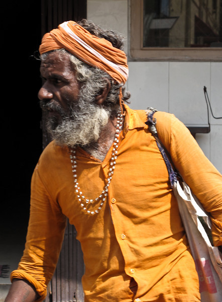 The majority of people of India follow the Hindu Religion and the holy people following the Hindu religion wear the Saffron colour.