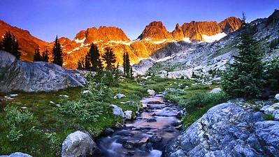 Creek Landscape Sierra Nevada Rocks Trees Stones California Water Fuji Mountain Japan Wallpaper
