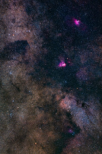 Nebulas and Clusters Around the Small Sagittarius Starcloud