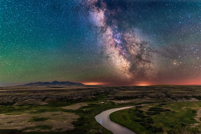 Milky Way over Milk River at Writing-on-Stone (2018 Version)