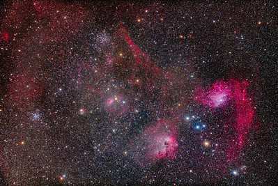 Star Clusters and Nebulas in Auriga