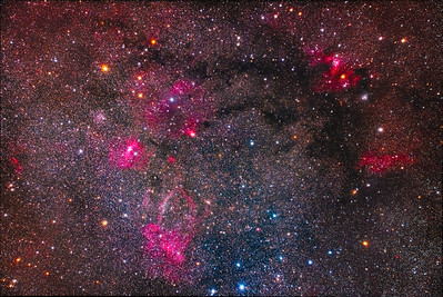 Clusters and Nebulas on the Cassiopeia-Cepheus Border