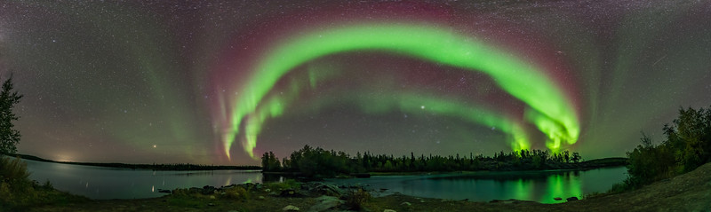 Aurora Panorama at Tibbit Lake #1