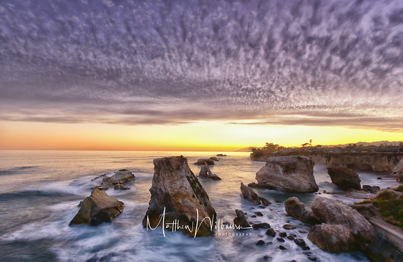 Shell Beach Sunset Waterscape Photograph
