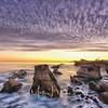Shell Beach Sunset Waterscape Photograph