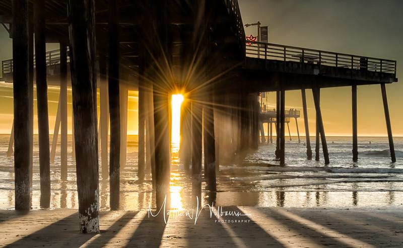 Pismo Pier Sun Burst
