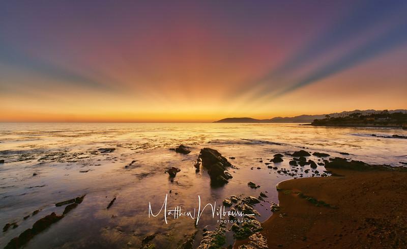 Pismo Beach Sunset Rays
