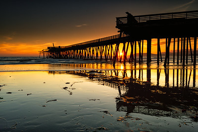 Pismo Beach Pier Sunset Reflection