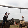 Grabbing the ring with a stick on horseback - Pampas of Argentina Home of the Gauchos (Estancia outside Buenos Aires)