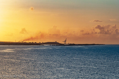 Arriving in Aruba at Sunrise