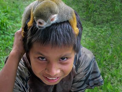 Boy wiith Monkey