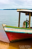 Boat on Ponta Negra (portrait)