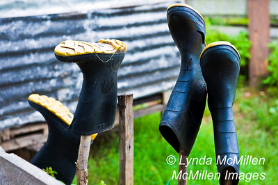 Even with holes the boots are necessary to protect feet from river critters (like snakes, alligators and piranhas).