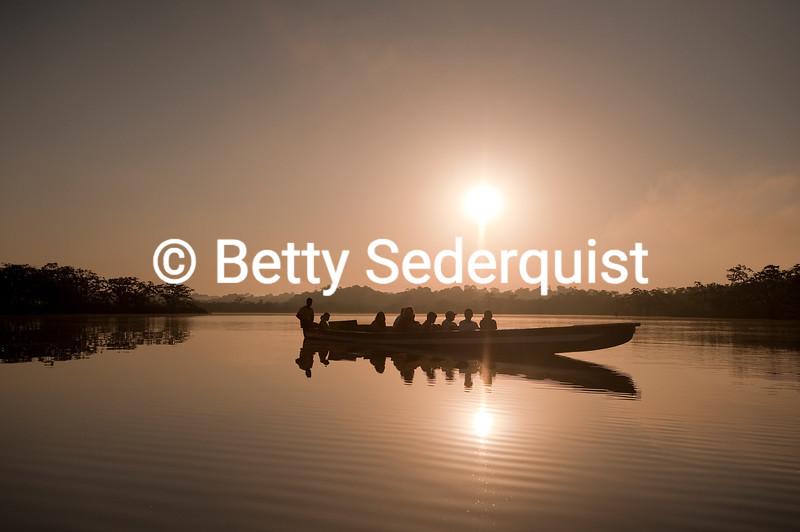 Dugout Canoe at Sunrise, Laguna Grande