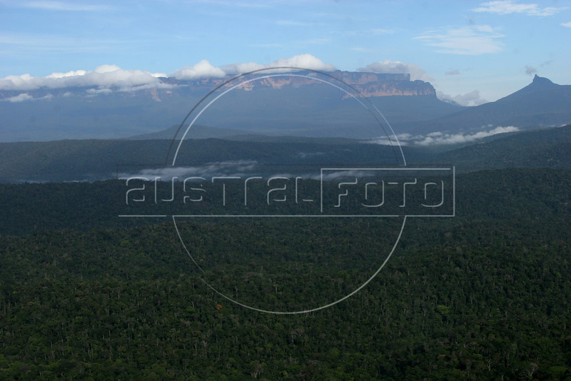 A view of Mount Roraima, in the Brazilian Amazonian state of Roraima, in northern Brazil. The mountain also forms the Brazilian border with Venezuela and Guyana. (Australfoto/Douglas Engle)
