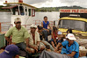 "Ferry passengers cross the Xingu River to the ""Terra do Meio"" or Middle Lands, in the municipality of Sao Felix do Xingu in Brazil's Amazonian state of Para. Named for the area between the Xingu and Iriri Rivers, the 29,343 sq. mile area (slightly smaller than Maine or Scotland) lies in the path of progress as cattle ranches encroach from the east and big business soy advances from the south. illegal logging, labor, land-grabbing and human rights abuses in the area are not uncommon. Simple people, looking for opportunity to have some cheap land, are migrating to the reagion. Much Like the favelas of Rio de Janeiro, which were not officially included on city maps until the mid-1990s, the Middle Land is also a species of autonomous zone - a black hole of information and uncertainty over which Brazilian authorities in reality have little control. (AustralFoto/Douglas Engle)"