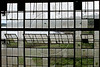 The Tapajos River is seen through the windows of an abandonded factory building in Fordlandia, a former factory town created by the Ford Motor Company, September 6, 2005. Deep in the Amazon forest, 12 hours by boat from the regional capital of Santarem in Brazil's Par‡a state, the rubber plantation and processing factory is now abandoned to the rain-forest, an aging memorial to American ideals and to the Brazilian reality. It almost seems like time has stopped in Fordlandia, or better yet, time has passed it by. In typical american style, it was organized and efficient, an idea admired by many Brazilians, and perhaps more so by residents of the untamed Amazon. But It is an idea hard to implement in the wilds of the amazon. Some might also say that it is also a typical American style the way Ford came here and tried to implement something with little knowledge of the local customs or terrain. From 1928 to 1945, Ford came tried to take control of his rubber supply, one of the most important products of the rainforest. After only 17 years the company admitted defeat and retreated from the forest. (AustralFoto/Douglas Engle)