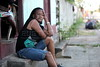 Silvaine Doris, 46, mother of 2 from Môle-Saint-Nicolas, Haiti waits outside a small hotel in Brasileia, in Brazil's Amazonian state of Acre, on the border with Bolivia. Hundreds, if not thousands, of Haitians are showing up in Brazil - after an odyssey through Equador, Peru and Bolivia - with hopes of gaining residency as refugees in South America's largest nation. (Douglas Engle/Australfoto)