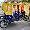 As in Iquitos, these types of 3 wheeled motor carts are the main transport, along with motorbikes. There are no cars in this village as it is too small and of course, there would be no place to drive. Pevas, Amazon River Basin, Peru