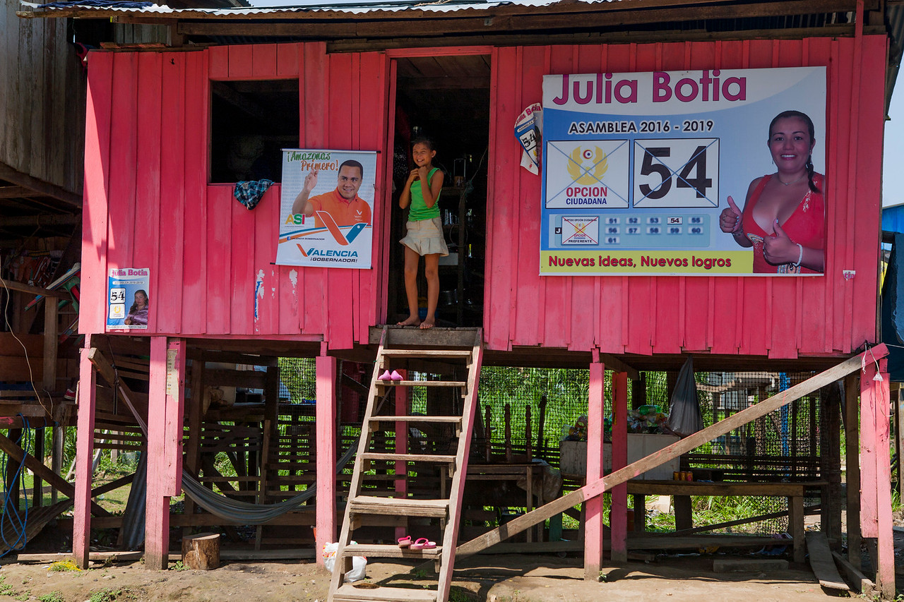Election posters in the border town of Leticia, Colombia