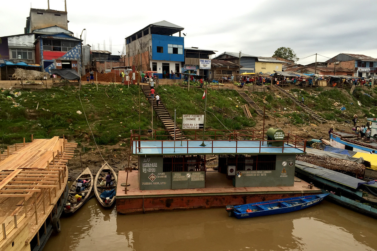 The port of Nauta, town where the road began in the Peruvian Amazon