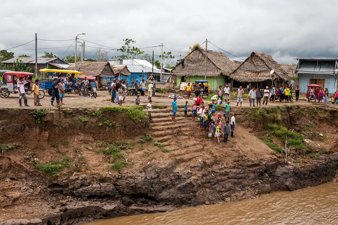 A bigger village along the Amazon river, Peru