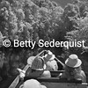 Infrared View of Canoe on Cuyabeno River, Amazon
