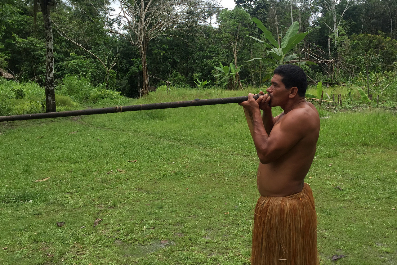 Yagua blowgun, Amazon, Peru