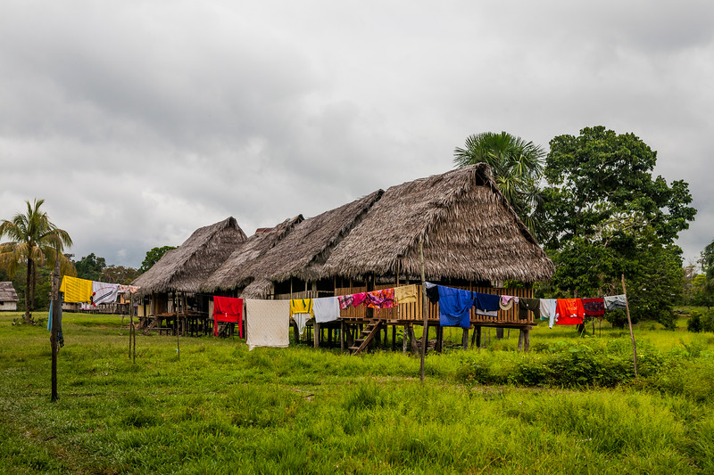 A village in the Amazon rainforest, Peru