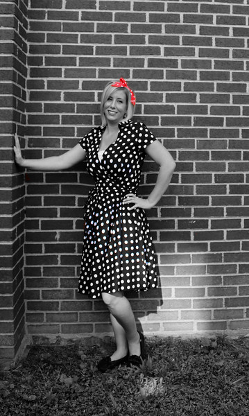 2015-08-14 Amber in 50's Dress