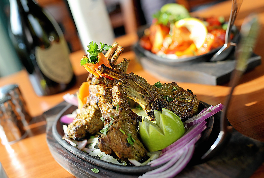 . The Rack of Lamb at Ambrosia India Bistro in Scotts Valley is marinated in yogurt, ginger, garlic and spices. (Kevin Johnson � Santa Cruz Sentinel)