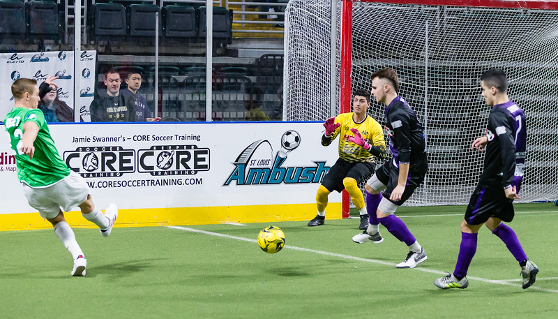 January 19, 2018 Family Arena, St. Charles MO. Ambush vs Syracuse.  Ambush play a solid first half but as is far too familiar they fell behind in the 3rd and couldnt make up the difference.