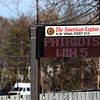 The American Legion A.W. Vinal Post 313 in Chelmsford had changed their sign on Monday February 6, 2017 to honor the Patriots Fifth Superbowl win. SUN/JOHN LOVE
